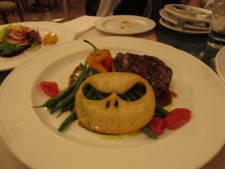 This was the steak.  Look at that scary face....