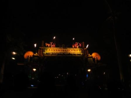 Hong Kong Disneyland Adventureland at night