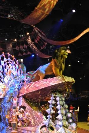 Part of the stage setup in the Festival of Lion King