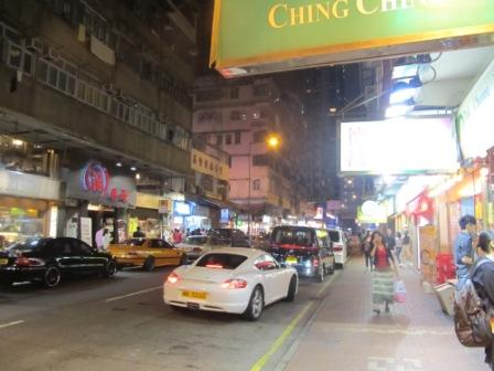 Look at Electric Road in Tin Hau.  It is packed with restaurants on both sides of the road
