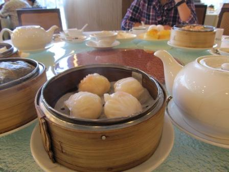 Shrimp dumpling (a.k.a. Ha Kau) is the MUST to everybody.  A typical dim sum, but to make a GREAT