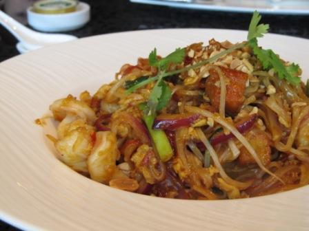 Pad Thai I ordered in the Lounge and Bar in the Ritz Carlton Hong Kong