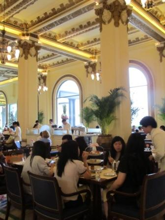 The set-up of high tea in the Peninsula pretty much the same as more than 10 years ago