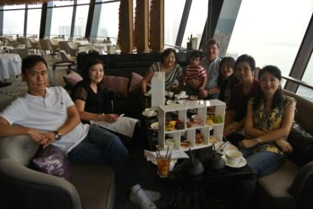 The whole family enjoying the high tea in View 62