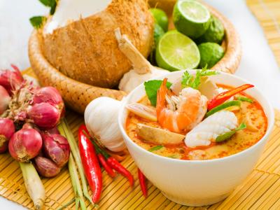 Coconut, lime and curry are pretty much the staples of the Hong Kong Thai food
