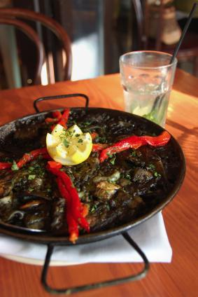 Paella served in Hong Kong Spanish Restaurant