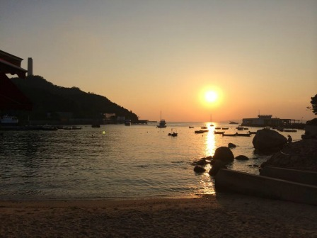 Sunset in Lamma Island, Hong Kong