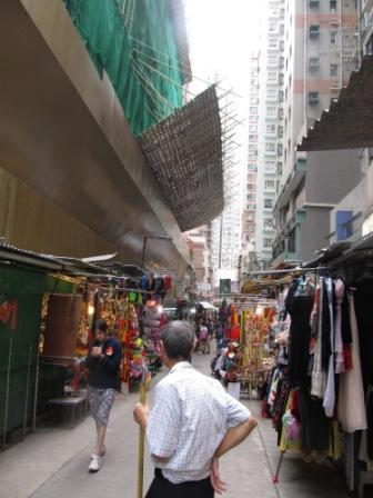 Urban redevelopment shortened the Wanchai market to 3 quarters of its original size.  I hope it won't get any shorter.