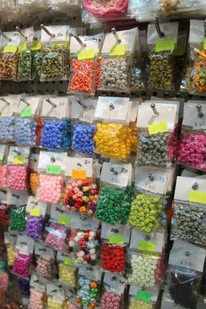 Beads sold in Yu Chau Street