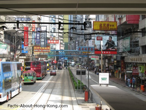 How many Hong Kong transportation can you see in this picture?
