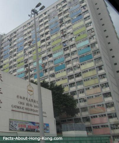 Public housing estates in Hong Kong.