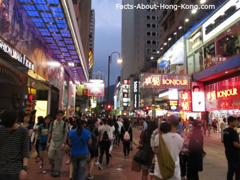 Crowd in Causeway Bay early in the evening.  With so many people in one place, there got to have some job opportunities out there to survive, right?