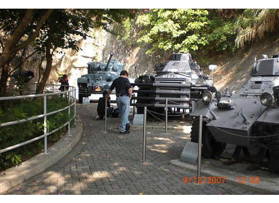 More tanks at the entrance