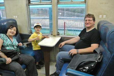 We were in one of the old trains at Hong Kong Railway Museum