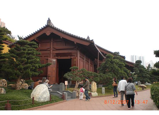 The building of the first exhibition hall, the Chinese Timber Architectural Gallery