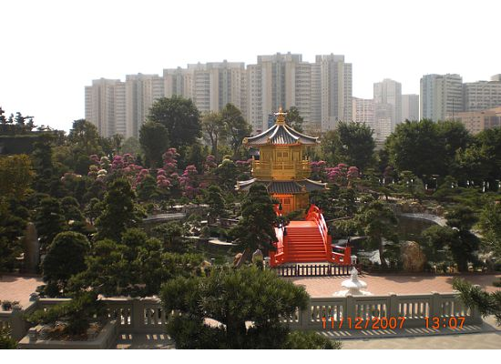 The full view of the Octagonal Pavilion