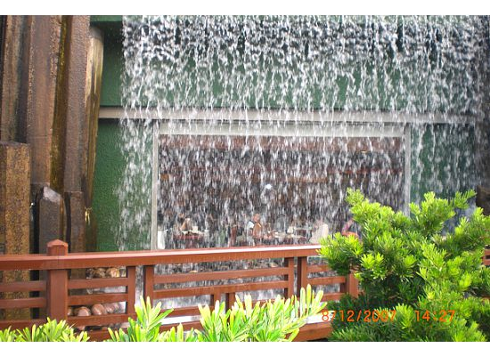 Can you see the people behind the waterfall in the Nan Lian Garden Hong Kong?