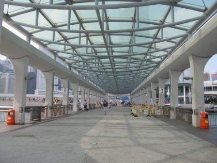 Central Pier 9 to get on the Hong Kong Junk Boat, Duk Ling