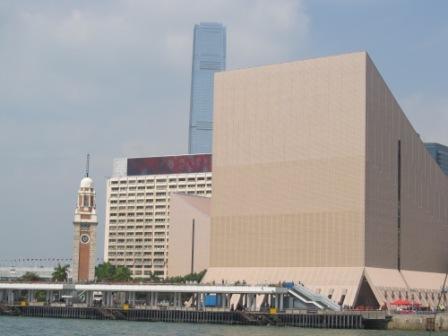 The buildings in Tsim Sha Tsui and Kowloon Public Pier
