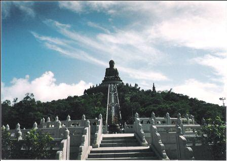 See the long staircase at the Hong Kong Giant Buddha