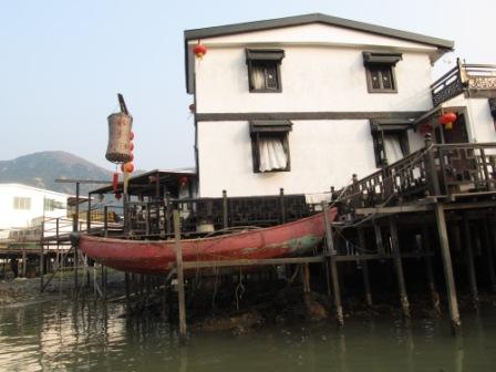 The most beautiful house in the Tai O Fishing Village, Hong Kong Lantau Island Tour