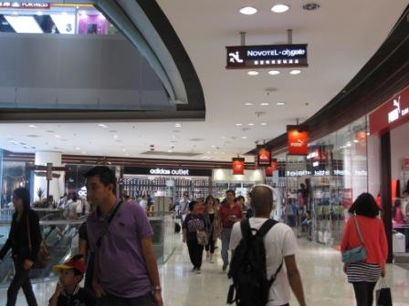 Inside the Ngong Ping Citygate Outlets Mall