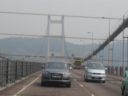 Hong Kong Tsing Ma Bridge, the longest suspension bridge in the world