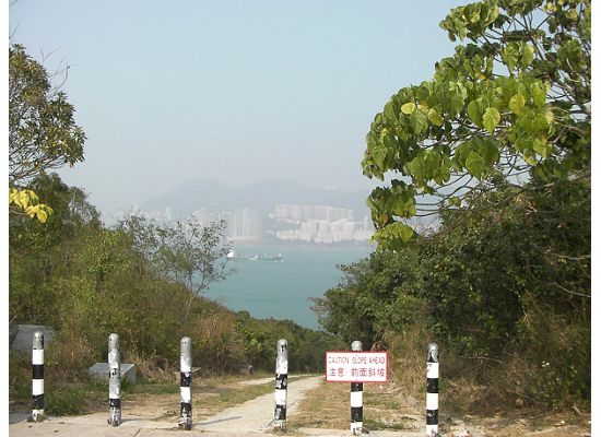 Hong Kong Lamma Island looking out to the harbor