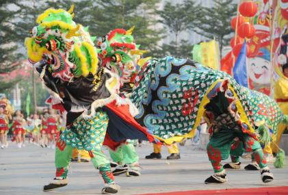 Hong Kong Chinese New Year Lion Dance