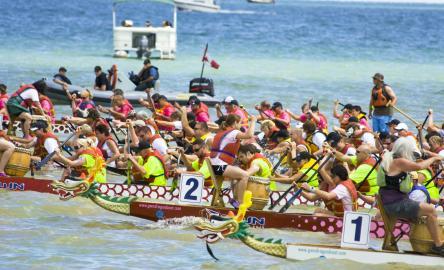 International Dragon Boat race after Hong Kong Dragon Boat Festival