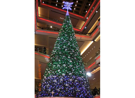 7-stories high Christmas tree in Hong Kong