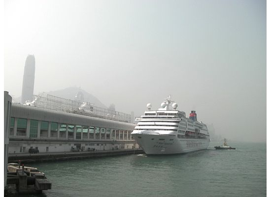 Cruise always anchored by the Hong Kong Star Ferry Tsim Sha Tsui pier