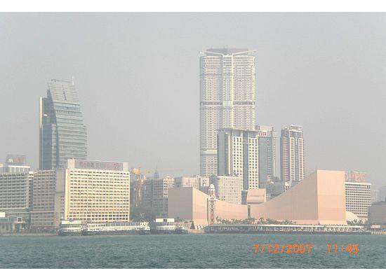 Skyline of Tsim Sha Tsui, Kowloon Peninsula viewing from Hong Kong Star Ferry