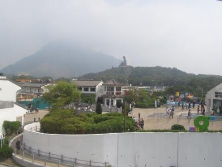 The outlook of Ngong Ping Village just a few minutes before you get off the cable car