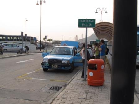 Hong Kong Lantau Island taxi is blue in color.  You may rarely see it.  Even if you are in the airport, the Giant Buddha or Ngong Ping 360, you may see more red taxis than the blue ones.