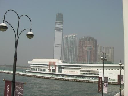 This picture was taken in 2009 when the ICC Tower was still under construction.  Can you see the bamboo scaffolding up there?