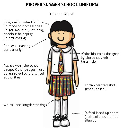 Hong Kong kids school uniform
