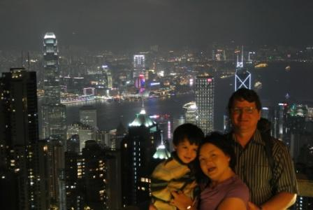 At the Hong Kong Victoria Peak