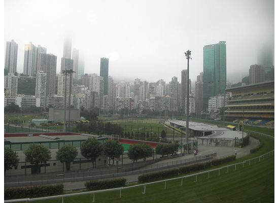 Overview of Hong Kong Horse Racing Course in Happy Valley
