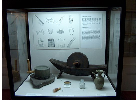 One of the display windows in Hong Kong Museum of Tea Ware