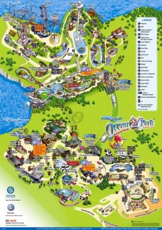 Ocean Park Hong Kong Map