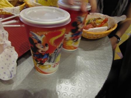Eating fast food in Hong Kong Disneyland
