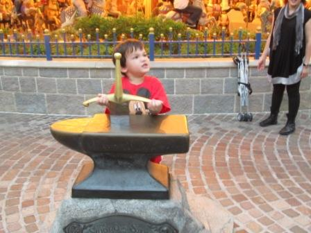 Look at that determination and enthusiasm on the face to pull that sword out of the stone