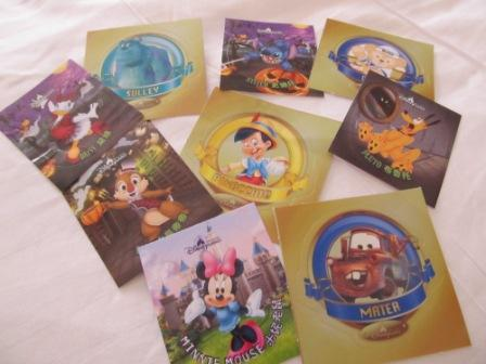 The staff in Hong Kong Disneyland keep handing out these stickers while we were visiting.  My little one was in H.E.A.V.E.N....