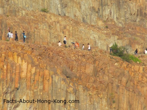 These people are hiking in the Hong Kong GeoNational Park