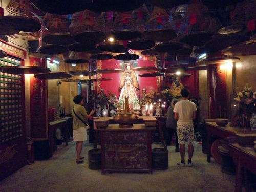Many taoist temples like this in Hong Kong.  People definitely come to worship or check out their