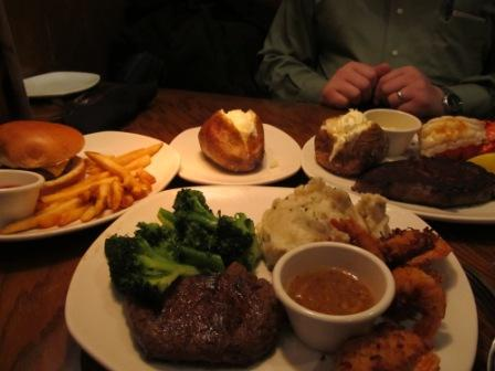 American food served in Hong Kong Outback Steakhouse