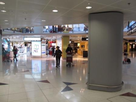 The airport is like another gigantic shopping mall