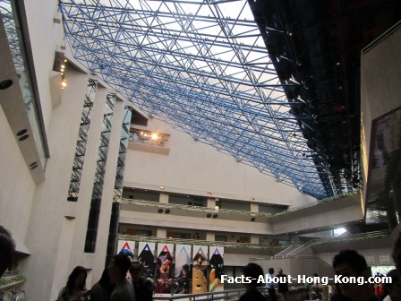 The inside of the Hong Kong Academy for Performing Arts