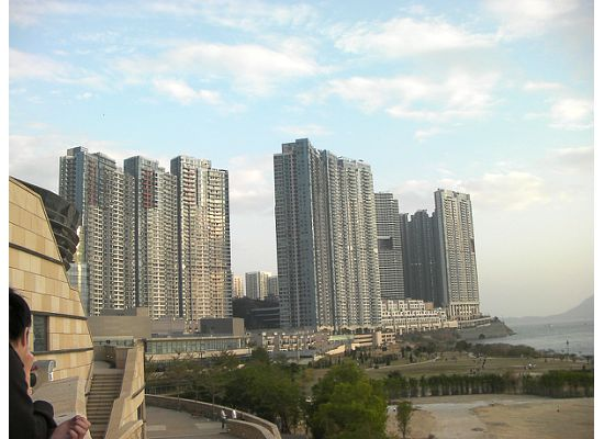 A high-end housing estate in Cyber Port in southern part of Hong Kong Island